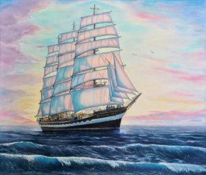 "Oil painting ""Kruzenshtern"""