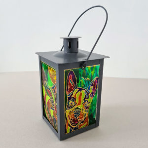 LANTERN STAINED GLASS FOR CANDLES