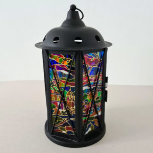 LANTERN STAINED GLASS FOR CANDLE